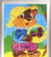 Мозаика из пайеток Азбука тойс «Мишка»