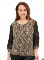 Блуза «Интригующая». Цвет: коричневый