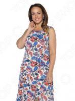 Платье Алтекс «Варенька». Цвет: сине-бежевый