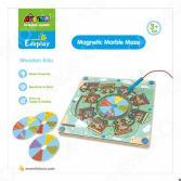Игра настольная развивающая для детей Avenir «Деревянный лабиринт с магнитными шариками»