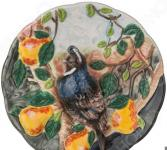 Тарелка декоративная «Птица в саду»
