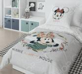 Детский комплект постельного белья Minnie Mickey Gray