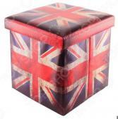 Пуф складной с ящиком для хранения EL Casa «Британский флаг» 35х35х35 см