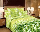 Комплект постельного белья Королевское Искушение «Подснежники». Тип ткани: сатин. Семейный