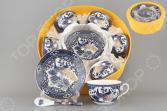 Чайный набор с ложками Elan Gallery «Павлин синий» 730491