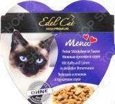 Корм консервированный для кошек Edel Cat Menu с телятиной и ягненком в грушевом соусе