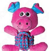 Игрушка для собак Kong Weave Knots «Свинка»