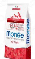 Корм сухой для активных собак Monge Natural Superpremium All Breeds Adult Active