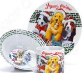 Набор посуды для детей Loraine LR-27116 «Собачка»