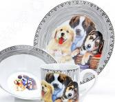 Набор посуды для детей Loraine LR-27123 «Собачка»