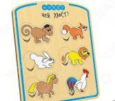 Игра развивающая WOODY «Рамка-вкладка: Где чей хвост?»