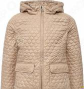 Куртка для девочки Finn Flare Kids KB16-71003. Цвет: бежевый