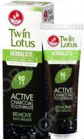 Зубная паста Twin Lotus Active Charcoal