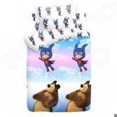 Детский комплект постельного белья Непоседа Маша и медведь «Маша-Супергерой»