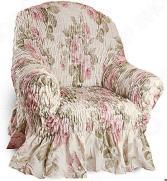 Натяжной чехол на кресло Еврочехол «Фантазия. Чайная роза»
