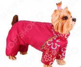 Комбинезон-дождевик для собак DEZZIE «Йоркширский терьер» №2. Цвет: красный