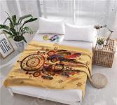Плед флисовый ТамиТекс «Ловец снов». Цвет: бежевый