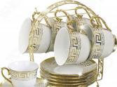 Чайный сервиз на подставке «Золотое свечение»: 7 предметов