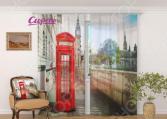 Фототюль Сирень «Лондон. Телефонная будка»