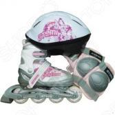 Роликовые коньки с комплектом защиты и шлемом ATEMI AJIS-09 girl set-3
