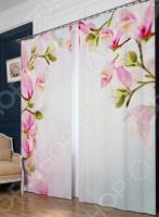 Фотошторы блэкаут Сирень «Розовые бутоны»