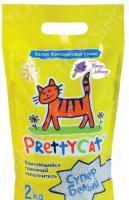 Наполнитель для кошачьего туалета PrettyCat «Cупер белый» с ароматом лаванды