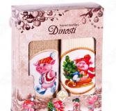 Комплект из 2-х кухонных полотенец Dinosti «Поросята с елкой»