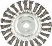 Щетка для УШМ MATRIX М14, плоская, крученая проволока