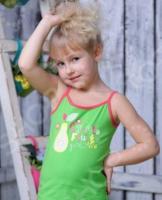 Майка для девочек Detiland SS15-UBL-GTP-964. Цвет: зеленый