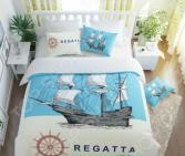 Комплект постельного белья Сирень «Регата». Семейный