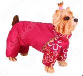 Комбинезон-дождевик для собак DEZZIE «Такса большая». Цвет: красный