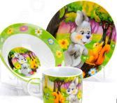 Набор посуды для детей Loraine «Зайка» LR-27331