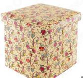 Пуф складной с ящиком для хранения EL Casa «Совы на ветках» Размер: 35х35 см