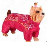 Комбинезон-дождевик для собак DEZZIE «Чихуахуа». Цвет: красный