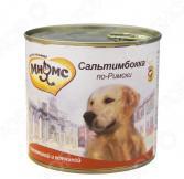 Корм консервированный для собак Мнямс «Сальтимбокка по-Римски» с телятиной и ветчиной
