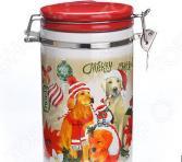 Банка для сыпучих продуктов Loraine «Собачки. Рождество»