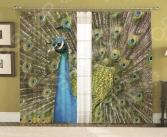Комплект фотоштор с подхватами МарТекс «Павлин» 16-0207-1