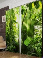 Фотошторы блэкаут Сирень «Тропический лес»
