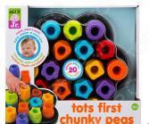 Игрушка развивающая для малыша Alex «Цветные гаечки»