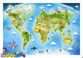 Пазл 40 элементов Castorland «Карта мира»
