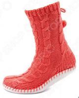 Тапочки-носки Burlesco H30. Цвет: коралловый