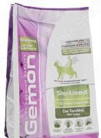 Корм сухой для стерилизованных кошек Gemon Sterilized With Turkey