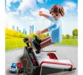 Конструктор игровой Playmobil «Экстра-набор: Скейтбордист с пандусом»