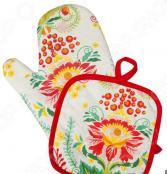 Набор: прихватка с рукавицей BONITA «Калинка»