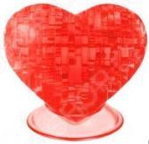 Кристальный пазл 3D Crystal Puzzle «Сердце красное»