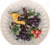 Тарелка декоративная Lefard «Синица и виноград» 59-057