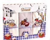 Комплект из 3-х кухонных полотенец Dinosti «Континентальный завтрак»