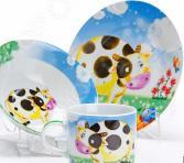 Набор посуды для детей Loraine «Корова» LR-27329