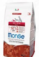 Корм сухой для собак мелких пород Monge Natural Superpremium Mini Adult Lamb, Rice and Potatoes