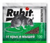 Средство для уничтожения мышей и крыс Rubit зоокумарин с гранулами У
